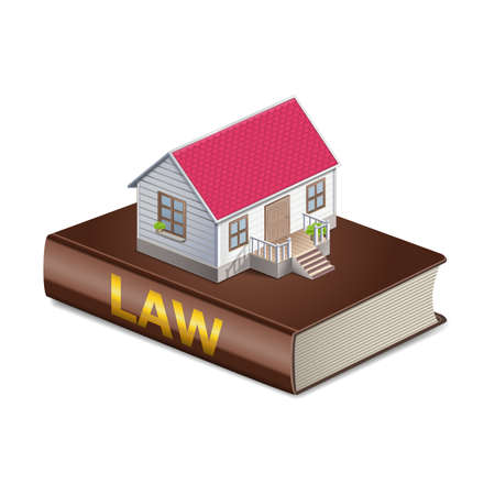 divorce: Vector real estate and law concept Illustration
