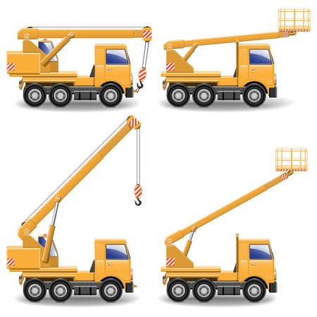 Vector Construction Machines Set 1 Vector