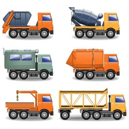 Vector Construction Machines Set 2 Stock Vector - 21869716