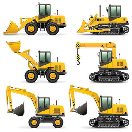 Vector Construction Machines Set 3 Vector