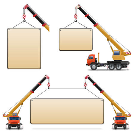 Vector Construction Machines Set 6 Illustration