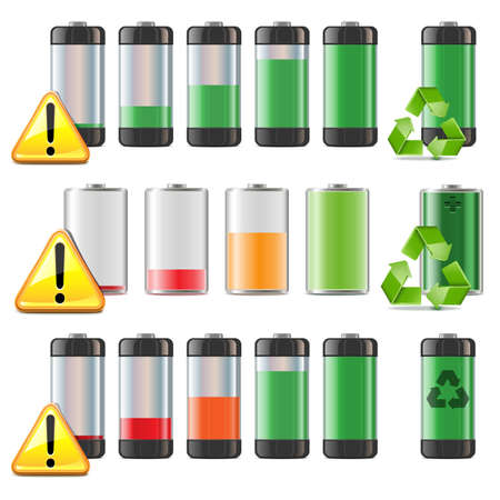 Vector Battery Icons Set Vector