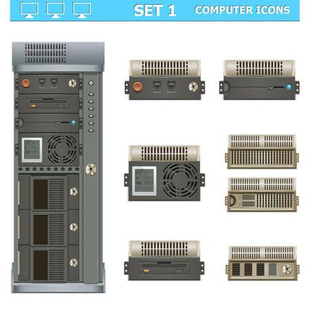 Vector computer icons set 1 Stock Vector - 21871669