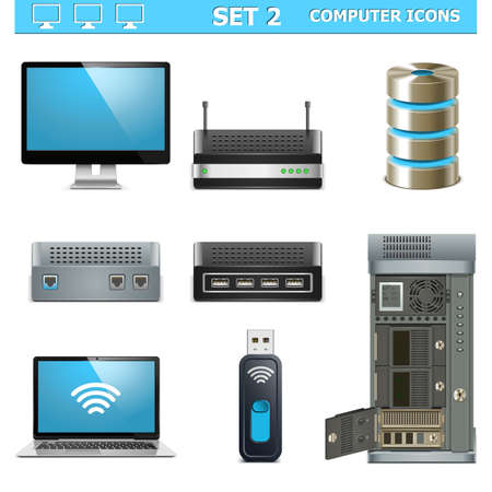 Vector Computer Icons Set 2 Stock Vector - 21871670