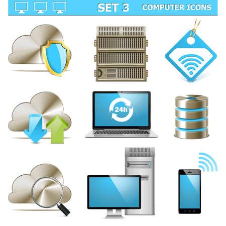 Vecteur Computer Icons Set 3 Vecteurs