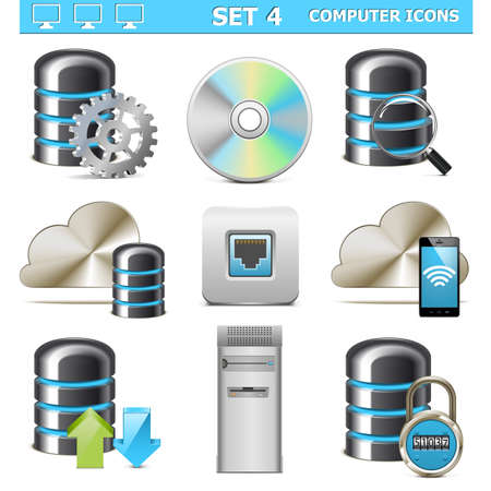 Vector Computer Icons Set 4 Illustration