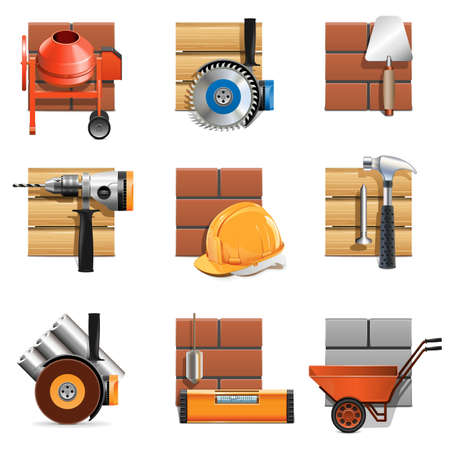 Vector Construction Work Icons Vector