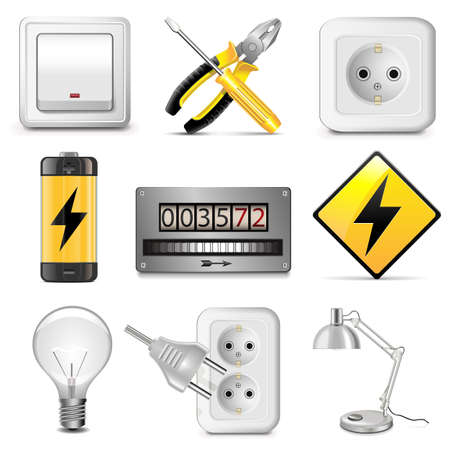 Vector Electrical Icons Vector