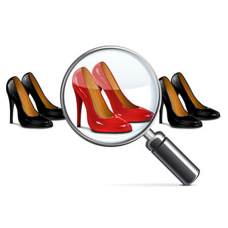 shoes vector: Vector Female Shoes with Lens Illustration