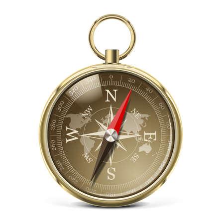 deviation: Vector Golden Compass Illustration