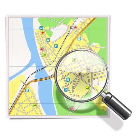 tour guide: Vector Map with Lens