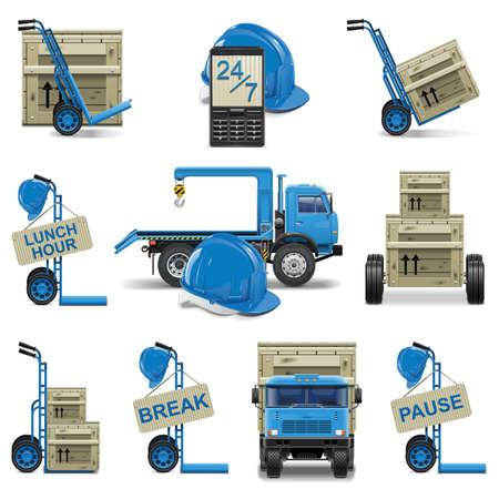 Vector shipment icons set 6 Stock Vector - 21871698