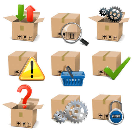 Vector Shipment Icons Set 8 Vector