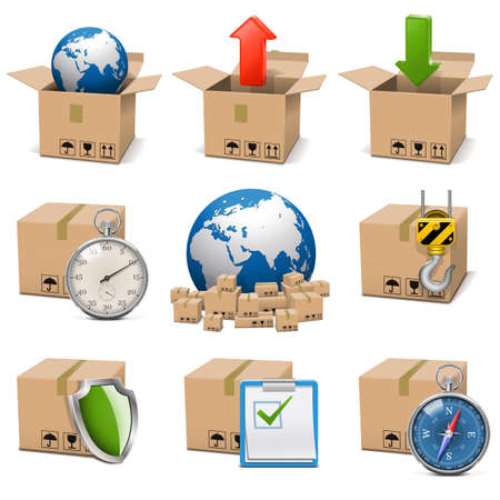 Vector Shipment Icons Set 9 Vector