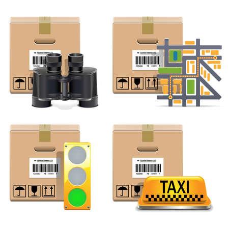 Vector Shipment Icons Set 10 Stock Vector - 21871702