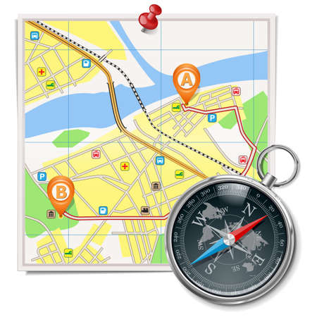 route map: Vector Travel Concept Set 2