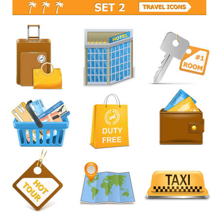Vector travel icons set 2 Vector