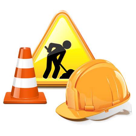 Vecteur Under Construction Concept Banque d'images - 21871803