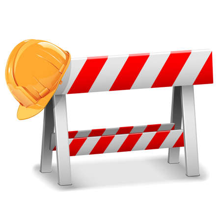 blocco stradale: Vector Barriera con casco