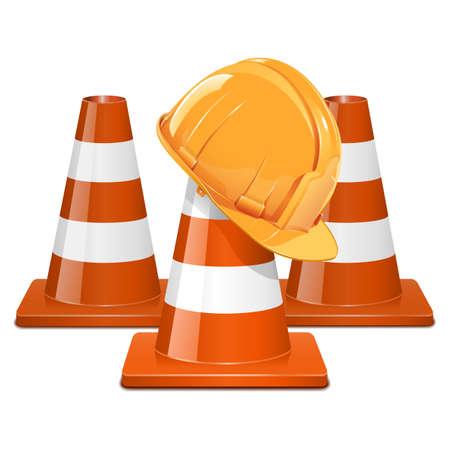surveyors: Vector Cones with Helmet