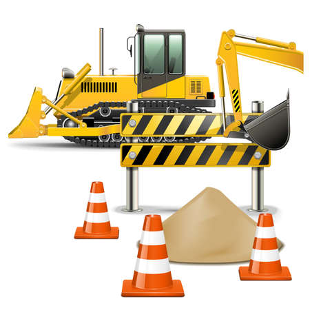 Vector Construction Machines with Barrier Vector