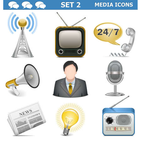 Vector Media Icons Set 2 Stock Vector - 21953451