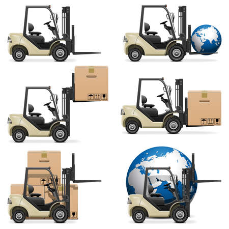 Vector Forklifts Stock Vector - 21953459