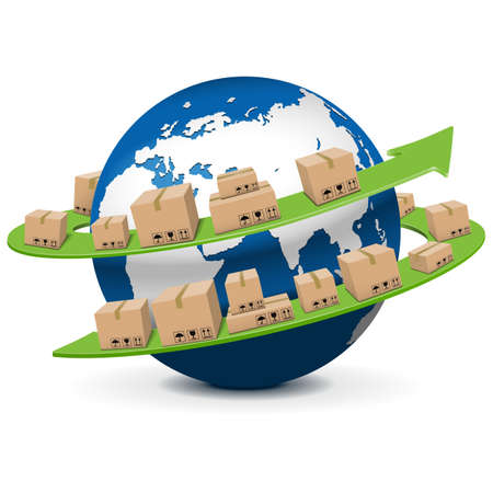 Vector Shipment Concept Illustration