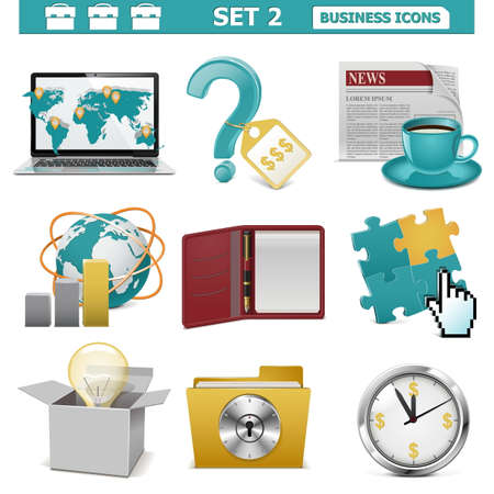 Vector Business Icons Set 2 Stock Vector - 22406732