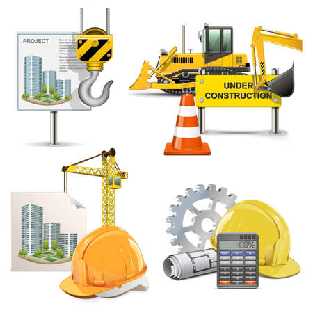 construction dozer: Vector Design and Construction Illustration