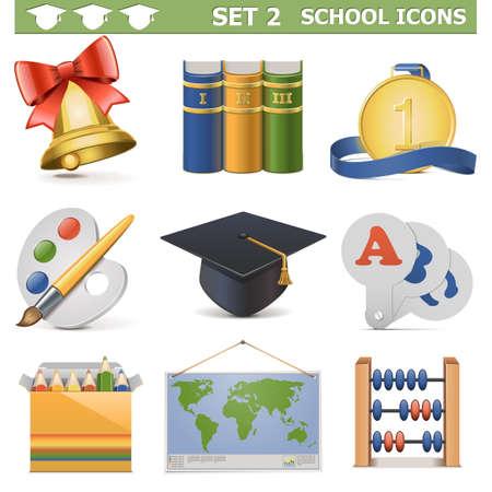 soumis: Vecteur scolaires Icons Set 2