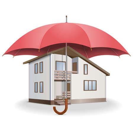 belay: Vector Umbrella and House