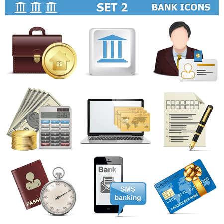 Vector Bank Icons Set 2