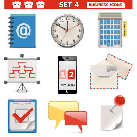 Business Icons Set 4 Vector