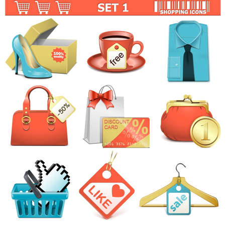 Vector shopping  icons set 1 Stock Vector - 22406746