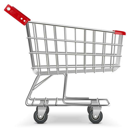 shopping trolleys: Vector Supermarket Cart