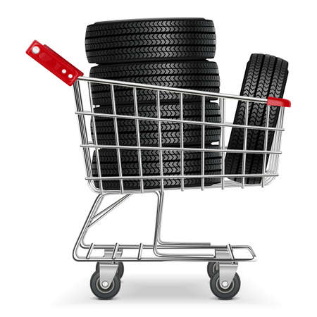 tire cover: Vector Trolley with Tires