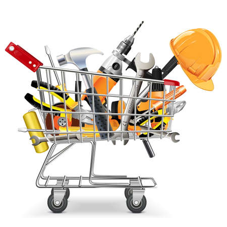Vector Trolley with Tools
