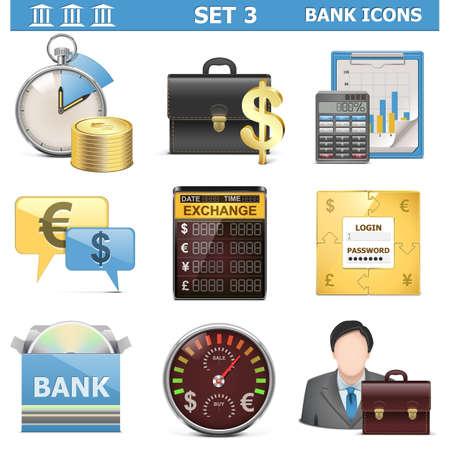cd case: Vector Banco Icons Set 3 Vectores