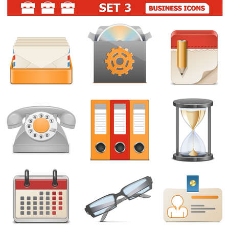 Vector Business Icons Set 3 Stock Vector - 22406769