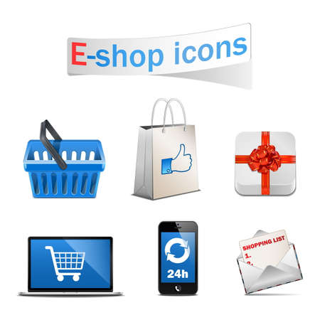 Vector E-shop Icons Vector