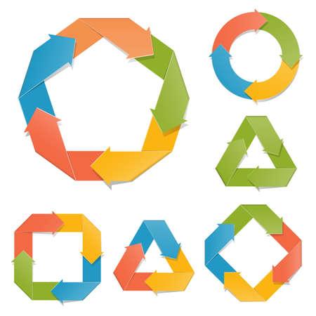 ciclo de vida: Diagramas de papel vectorial