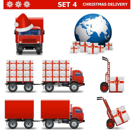 Vector Christmas Delivery Set 4 Vector