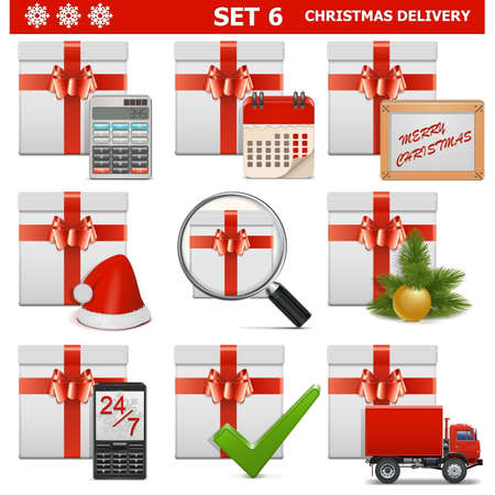Vector Christmas Delivery Set 6 Vector