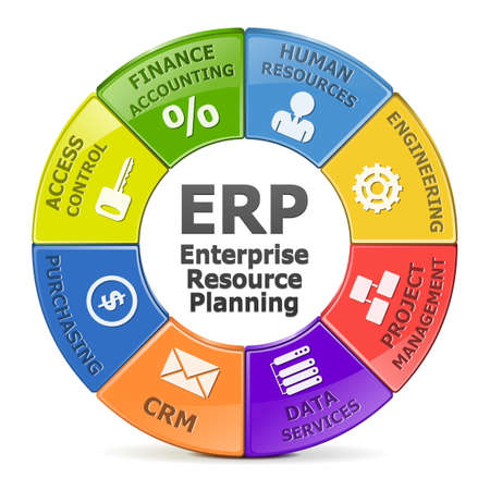 accounting: Vector ERP system Illustration