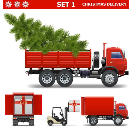 Vector Christmas Delivery Set 1 Illustration