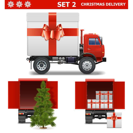 Vector Christmas Delivery Set 2 Vector