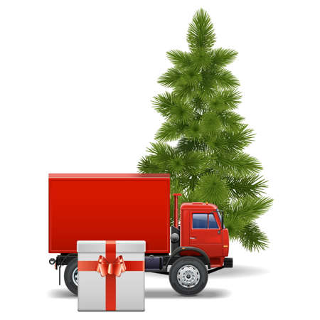 Vector Christmas Delivery Concept Vector