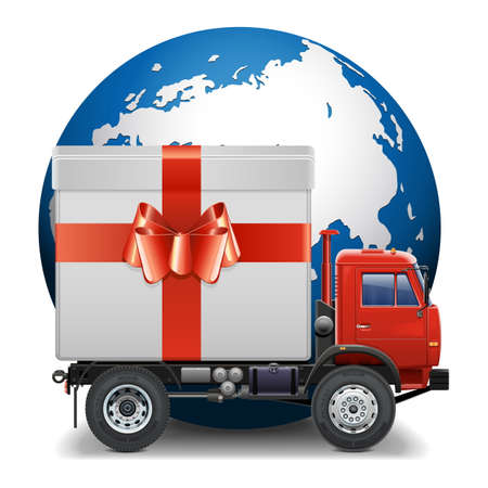 Vector Gifts Delivery Concept