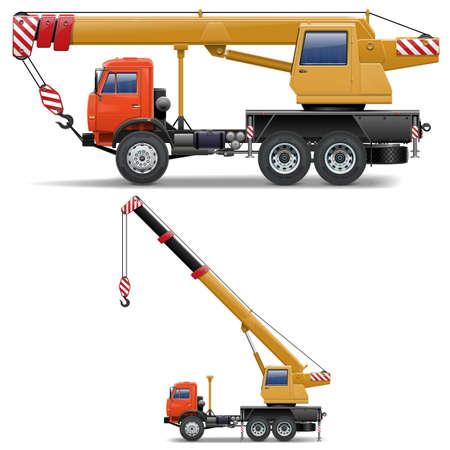camion grua: Máquinas de construcción del vector fijaron 5